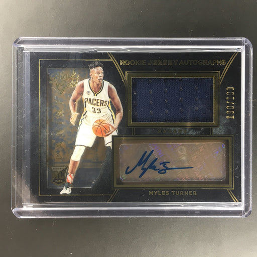 2015-16 Black Gold MYLES TURNER Rookie Jersey Auto 190/199-Cherry Collectables