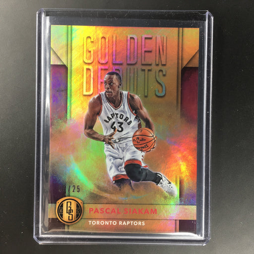 2016-17 Gold Standard PASCAL SIAKAM Golden Debuts Rookie 5/25-Cherry Collectables