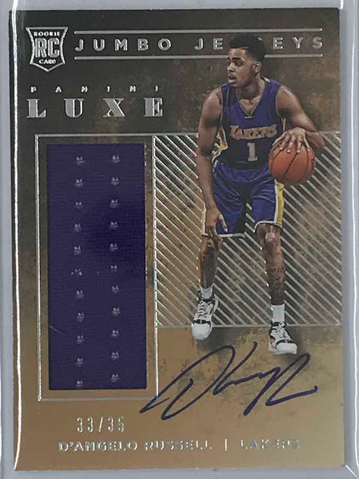 15-16 Luxe D'ANGELO RUSSELL Jumbo Jerseys Auto Jsy RC 33/35-Cherry Collectables