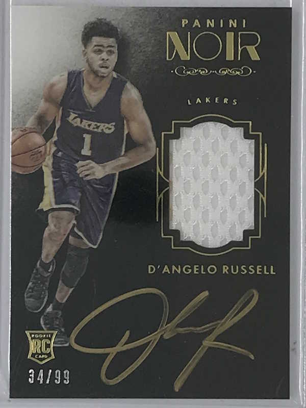 15-16 Noir D'ANGELO RUSSELL Colour Auto Jsy RC 34/99-Cherry Collectables