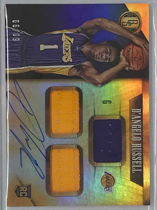 15-16 Gold Standard D'ANGELO RUSSELL Auto Jsy RC 66/99-Cherry Collectables