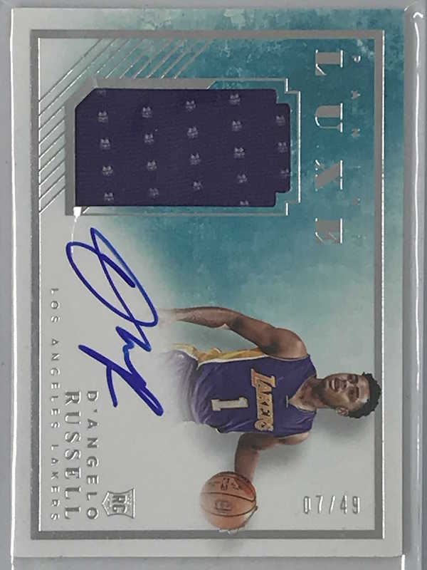 15-16 Luxe D'ANGELO RUSSELL Auto Jsy RC 07/49-Cherry Collectables