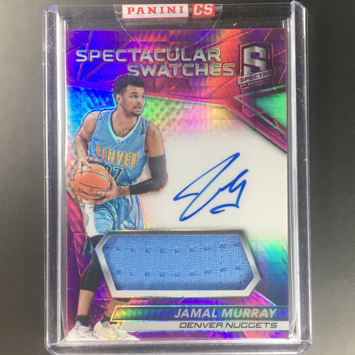 2016-17 Spectra JAMAL MURRAY Spectacular Swatches Rookie Auto Pink 43/49-Cherry Collectables