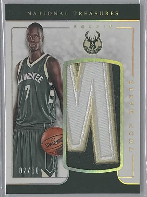 16-17 National Treasures THON MAKER Jsy RC 2/10-Cherry Collectables