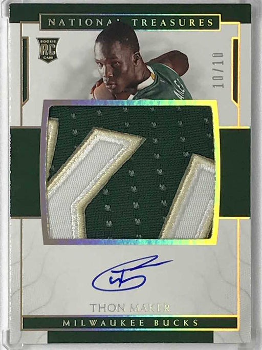 16-17 National Treasures THON MAKER RPA Jsy Auto RC 10/10 1/1-Cherry Collectables