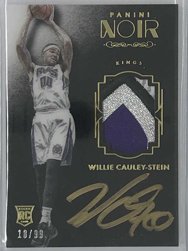 15-16 Noir WILLIE CAULEY-STEIN Colour Jsy Auto RC RPA 18/99-Cherry Collectables