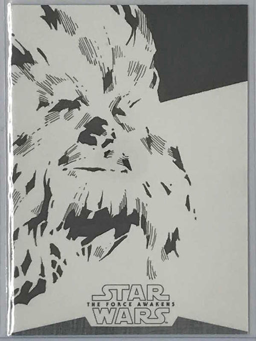 Star Wars The Force Awakens CHEWBACCA SKETCH 1/1-Cherry Collectables