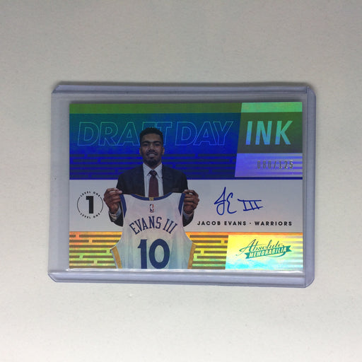 18-19 Absolute Memorabilia JACOB EVANS Draft Day Ink Auto RC /125-Cherry Collectables
