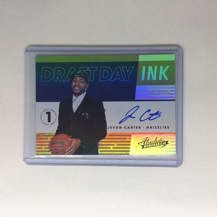 18-19 Absolute Memorabilia JEVON CARTER Draft Day Ink Auto RC /125-Cherry Collectables