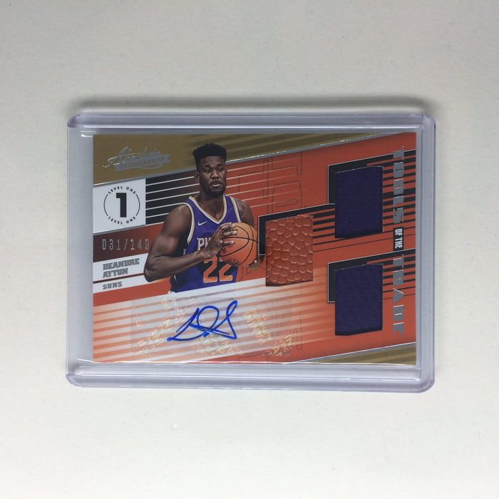 18-19 Absolute Memorabilia DEANDRE AYTON Tools Of The Trade Auto Jsy RC /149-Cherry Collectables