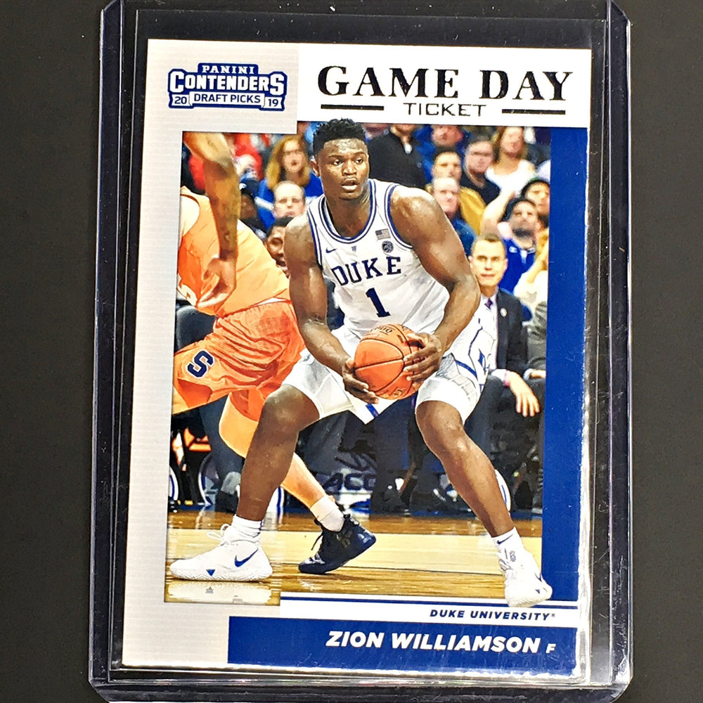 2019 Contenders Draft Picks ZION WILLIAMSON Game Day Ticket #1-Cherry Collectables
