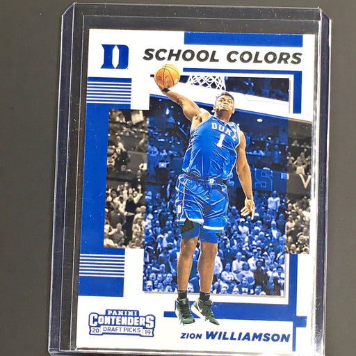 2019 Contenders Draft Picks ZION WILLIAMSON School Colours Duke #1-Cherry Collectables