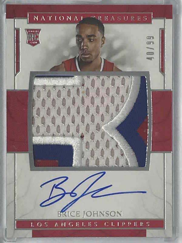 16-17 National Treasures BRICE JOHNSON RPA Auto Jsy RC 40/99 - Cherry Collectables