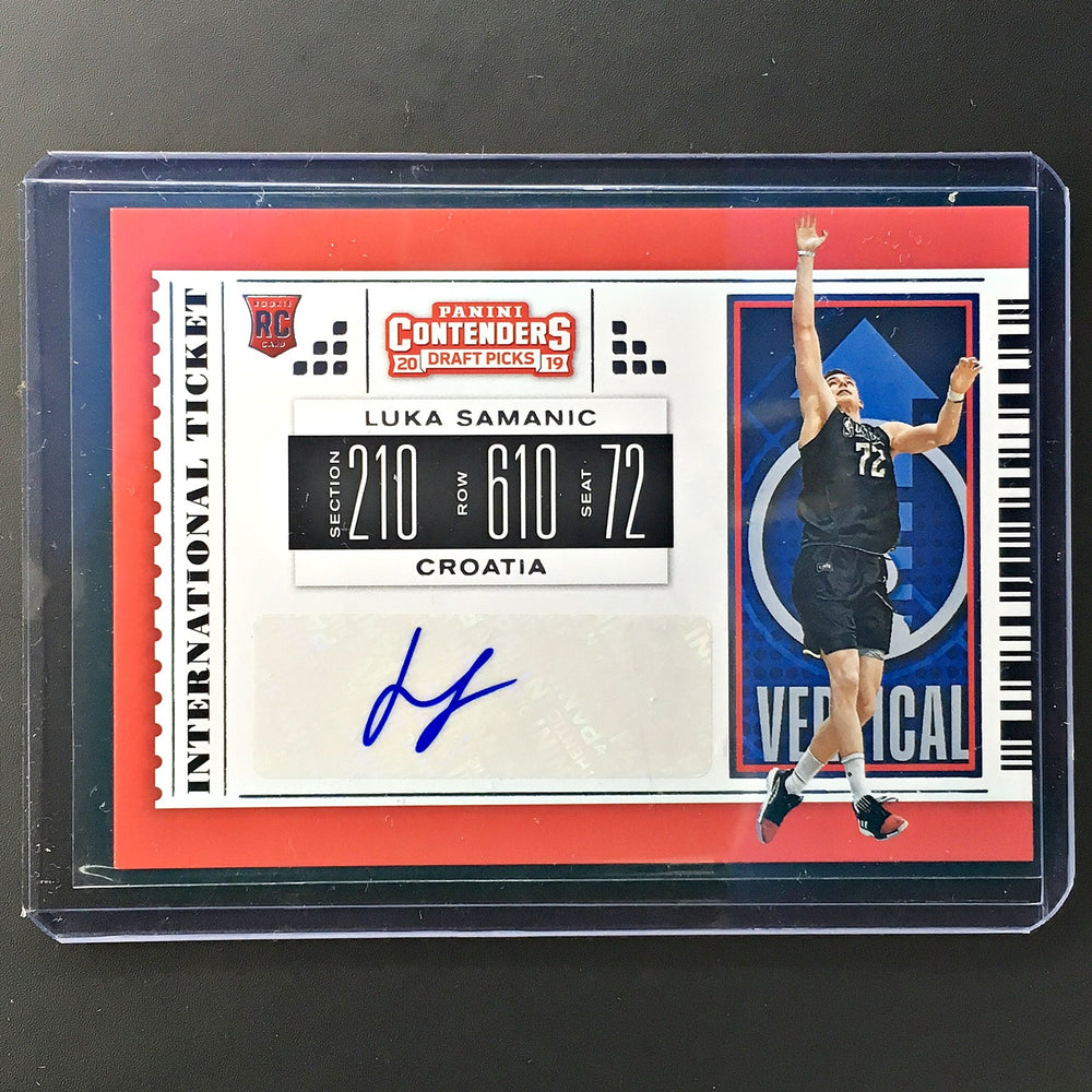 2019 Contenders Draft Picks LUKA SAMANIC International Ticket Auto #3-Cherry Collectables