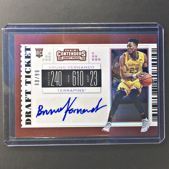 2019 Contenders Draft Picks BRUNO FERNANDO Draft Ticket Auto 60/99-Cherry Collectables