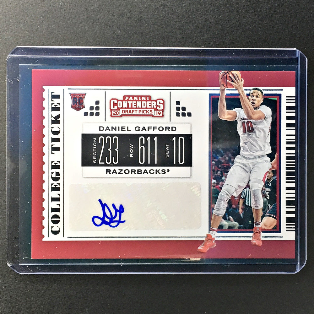 2019 Contenders Draft Picks DANIEL GAFFORD College Ticket Auto #85-Cherry Collectables
