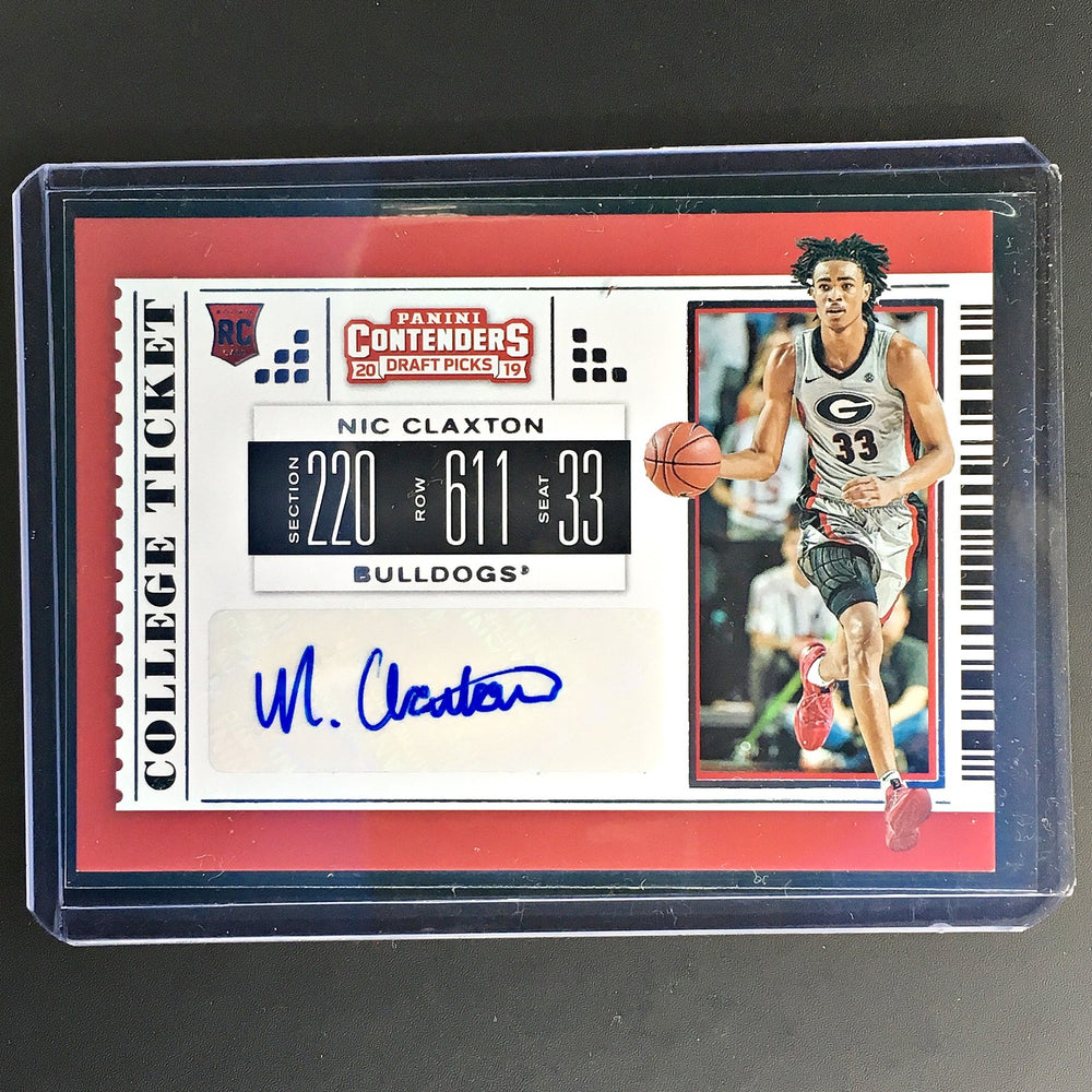 2019 Contenders Draft Picks NIC CLAXTON College Ticket Auto #125-Cherry Collectables