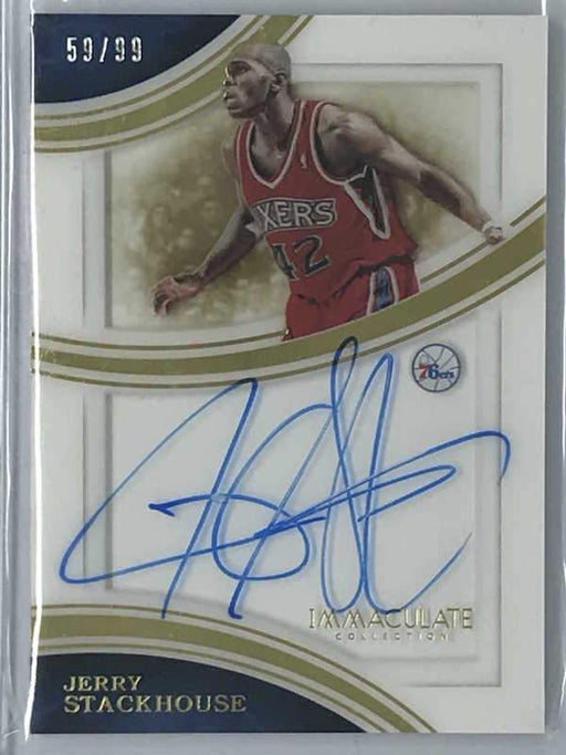 15-16 Immaculate JERRY STACKHOUSE Shadowbox Auto 59/99-Cherry Collectables