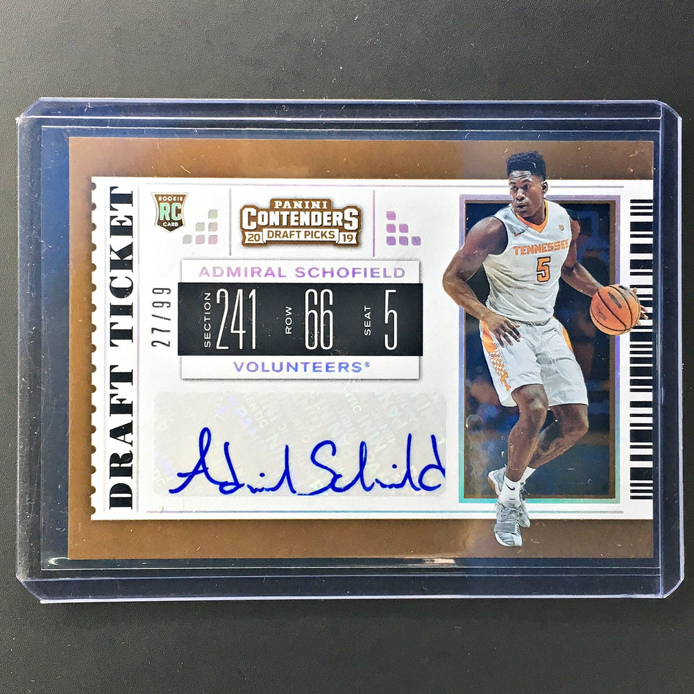 2019 Contenders Draft Picks ADMIRAL SCHOFIELD Draft Ticket Auto 27/99-Cherry Collectables