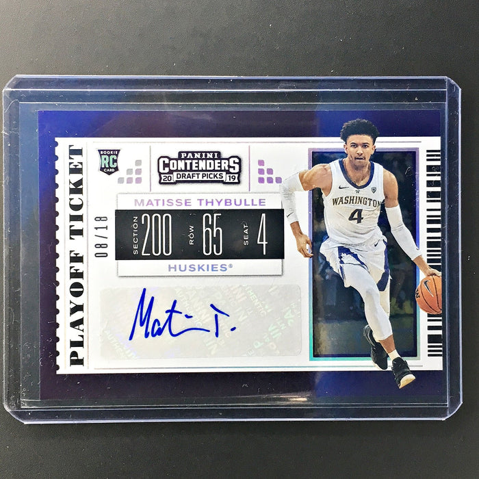 2019 Contenders Draft Picks MATISSE THYBULLE Playoff Ticket Auto 8/18-Cherry Collectables