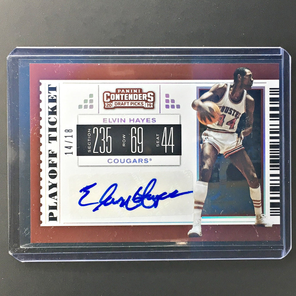 2019 Contenders Draft Picks ELVIN HAYES Playoff Ticket Auto 14/18-Cherry Collectables
