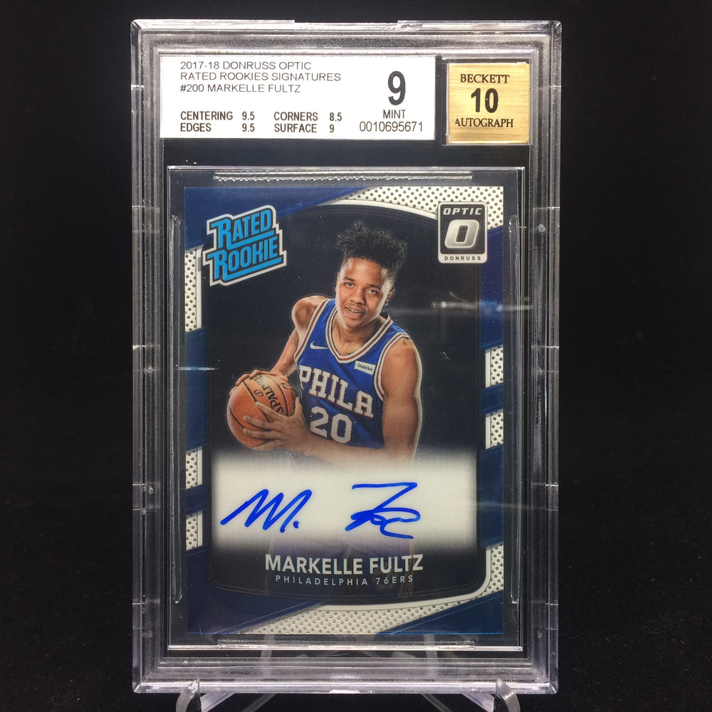 17-18 Donruss Optic MARKELLE FULTZ RC Auto BGS 9/10-Cherry Collectables