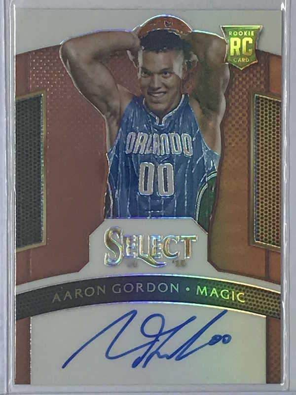 14-15 Select AARON GORDON Auto Bronze RC 10/49 - Cherry Collectables