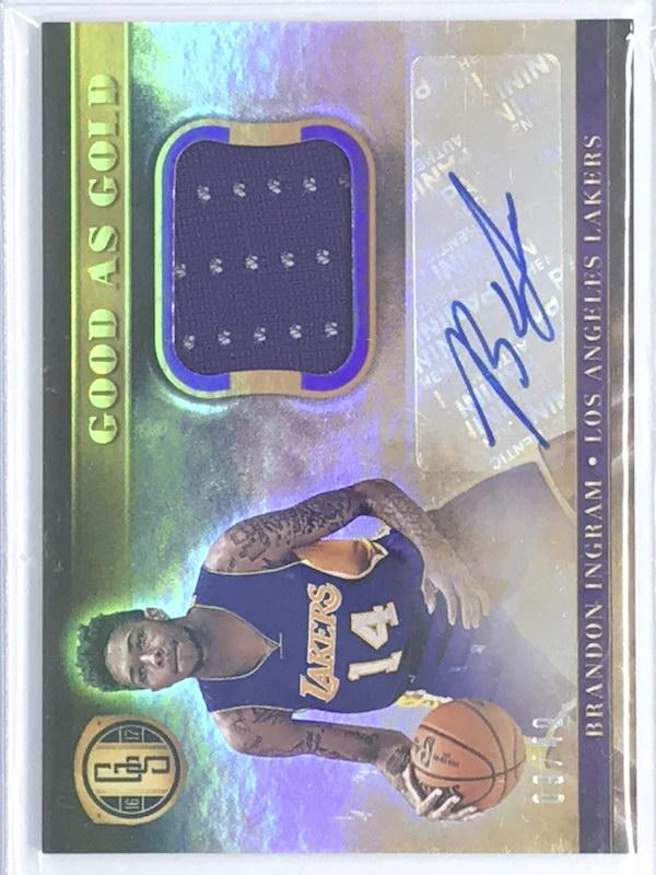 16-17 Gold Standard BRANDON INGRAM Good As Gold Auto Jsy 9/49 - Cherry Collectables