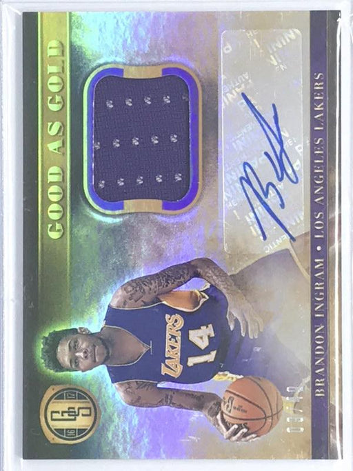 16-17 Gold Standard BRANDON INGRAM Good As Gold Auto Jsy 9/49-Cherry Collectables