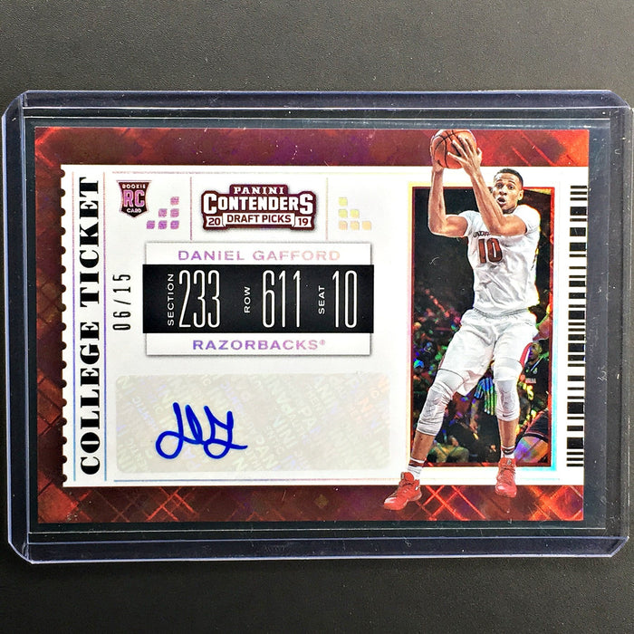 2019 Contenders Draft Picks DANIEL GAFFORD College Ticket Auto 6/15-Cherry Collectables