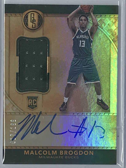 16-17 Gold Standard MALCOLM BROGDON Auto Jsy RC 17/199-Cherry Collectables