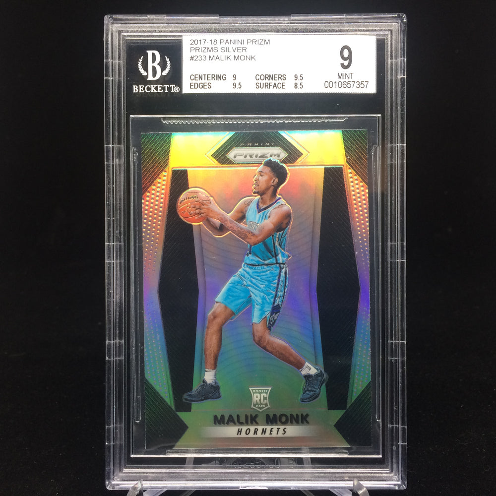 17-18 Prizm MALIK MONK RC Silver BGS 9.5-Cherry Collectables