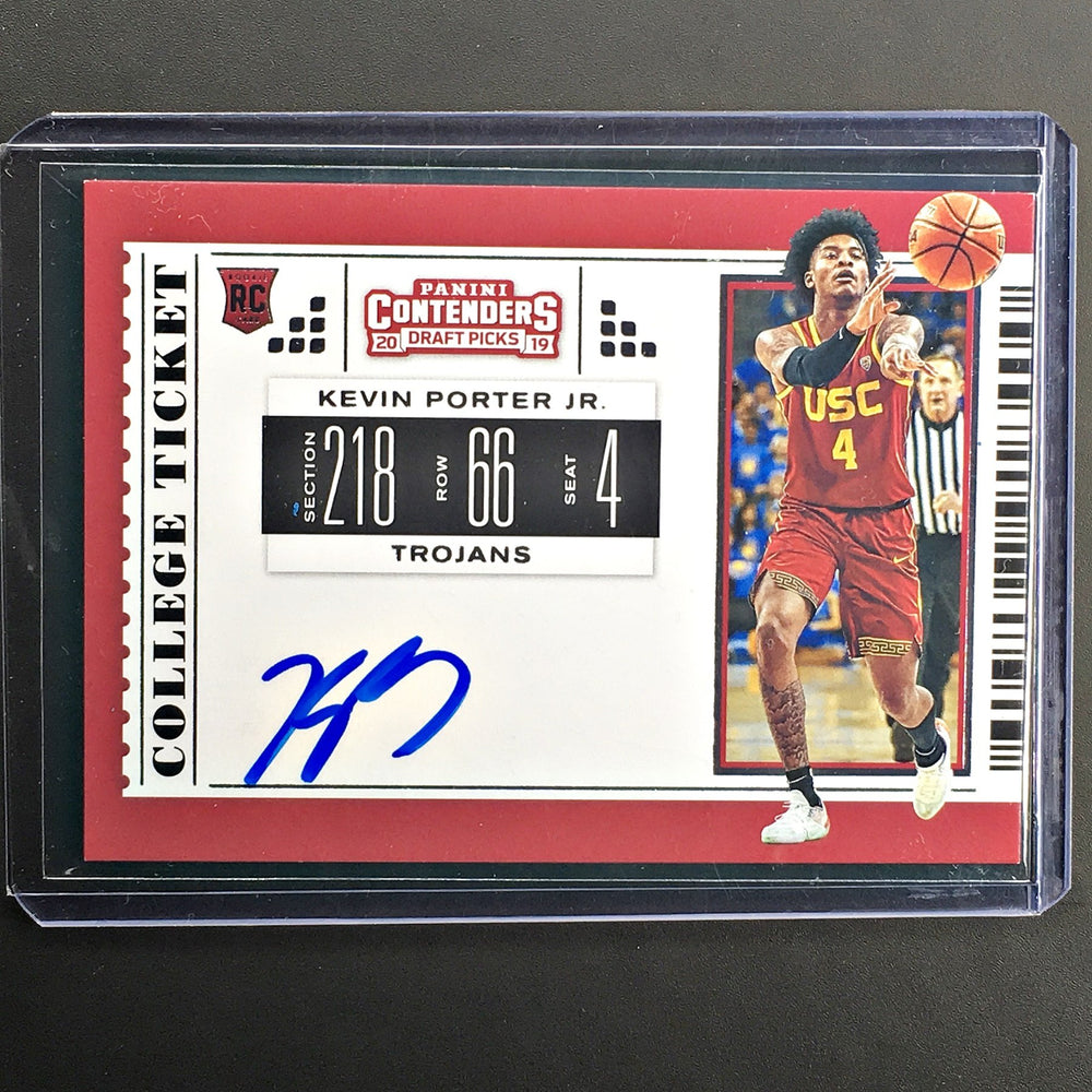 2019 Contenders Draft Picks KEVIN PORTER JR College Ticket Auto #66-Cherry Collectables