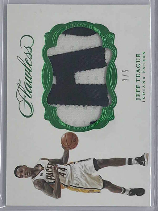 16-17 Flawless JEFF TEAGUE Patch Green Emerald 3/5-Cherry Collectables