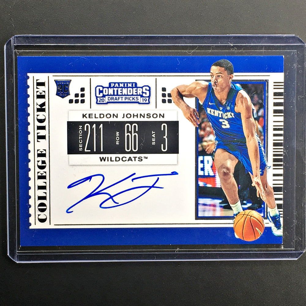 2019 Contenders Draft Picks KELDON JOHNSON College Ticket Auto #63-Cherry Collectables