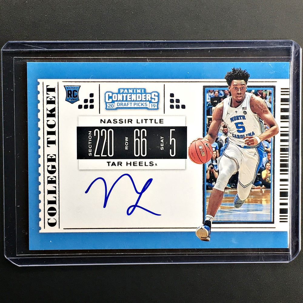 2019 Contenders Draft Picks NASSIR LITTLE College Ticket Auto #62 -2-Cherry Collectables