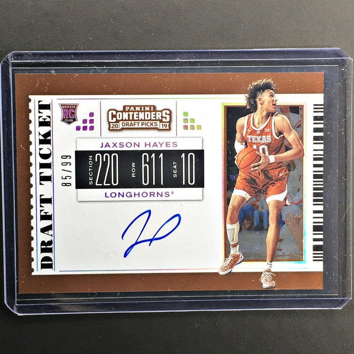 2019 Contenders Draft Picks JAXSON HAYES Draft Ticket Auto 85/99-Cherry Collectables