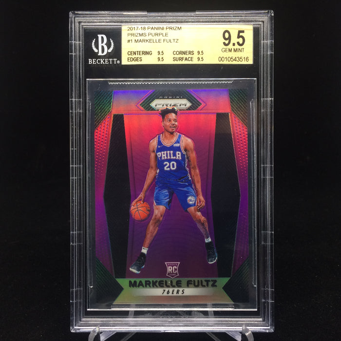 17-18 Prizm MARKELLE FULTZ Purple /75 BGS 9.5-Cherry Collectables
