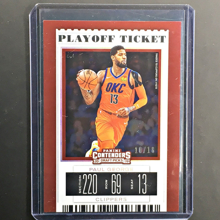 2019 Contenders Draft Picks PAUL GEORGE Playoff Ticket 10/18-Cherry Collectables