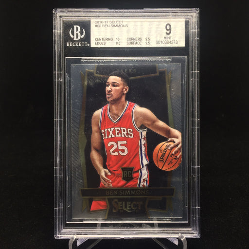 16-17 Select BEN SIMMONS RC #60 BGS 9-Cherry Collectables