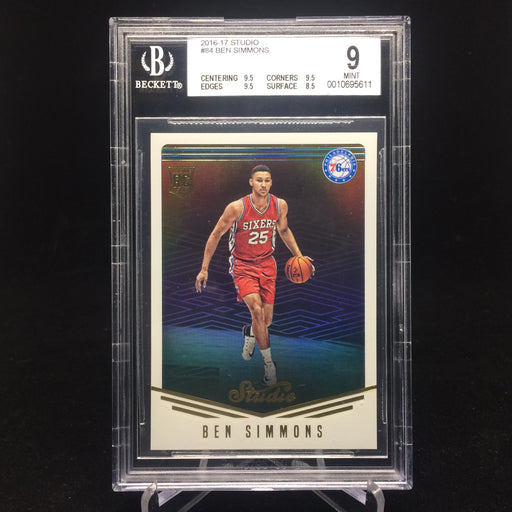 16-17 Studio BEN SIMMONS RC #84 BGS 9-Cherry Collectables