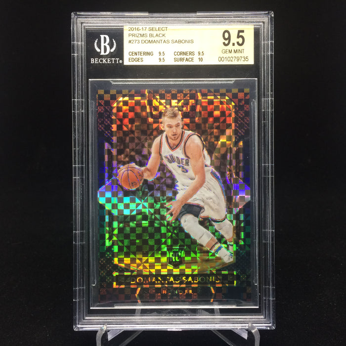 16-17 Select DOMANTAS SABONIS RC Prizm Black 1/1 BGS 9.5-Cherry Collectables