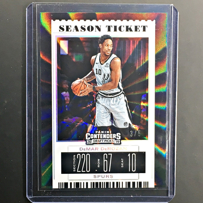 2019 Contenders Draft Picks DEMAR DEROZAN Season Ticket 3/5-Cherry Collectables