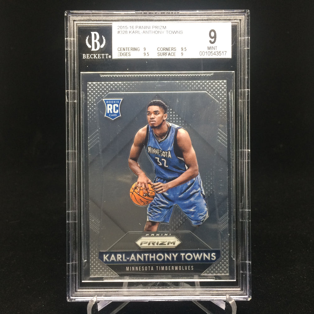 15-16 Prizm KARL-ANTHONY TOWNS RC #328 BGS 9-Cherry Collectables