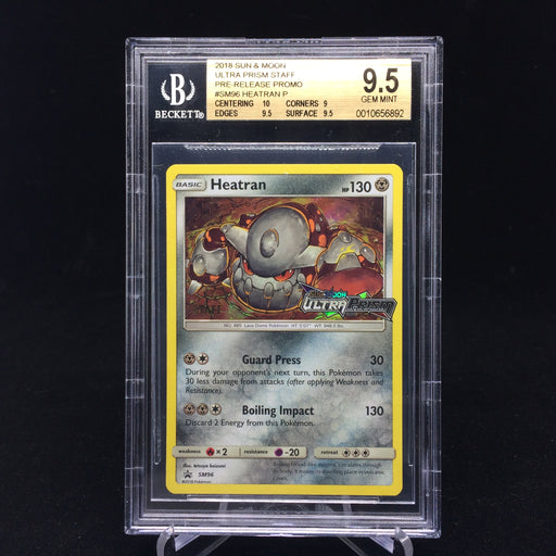 Heatran SM96 STAFF Prerelease Promo BGS 9.5-Cherry Collectables