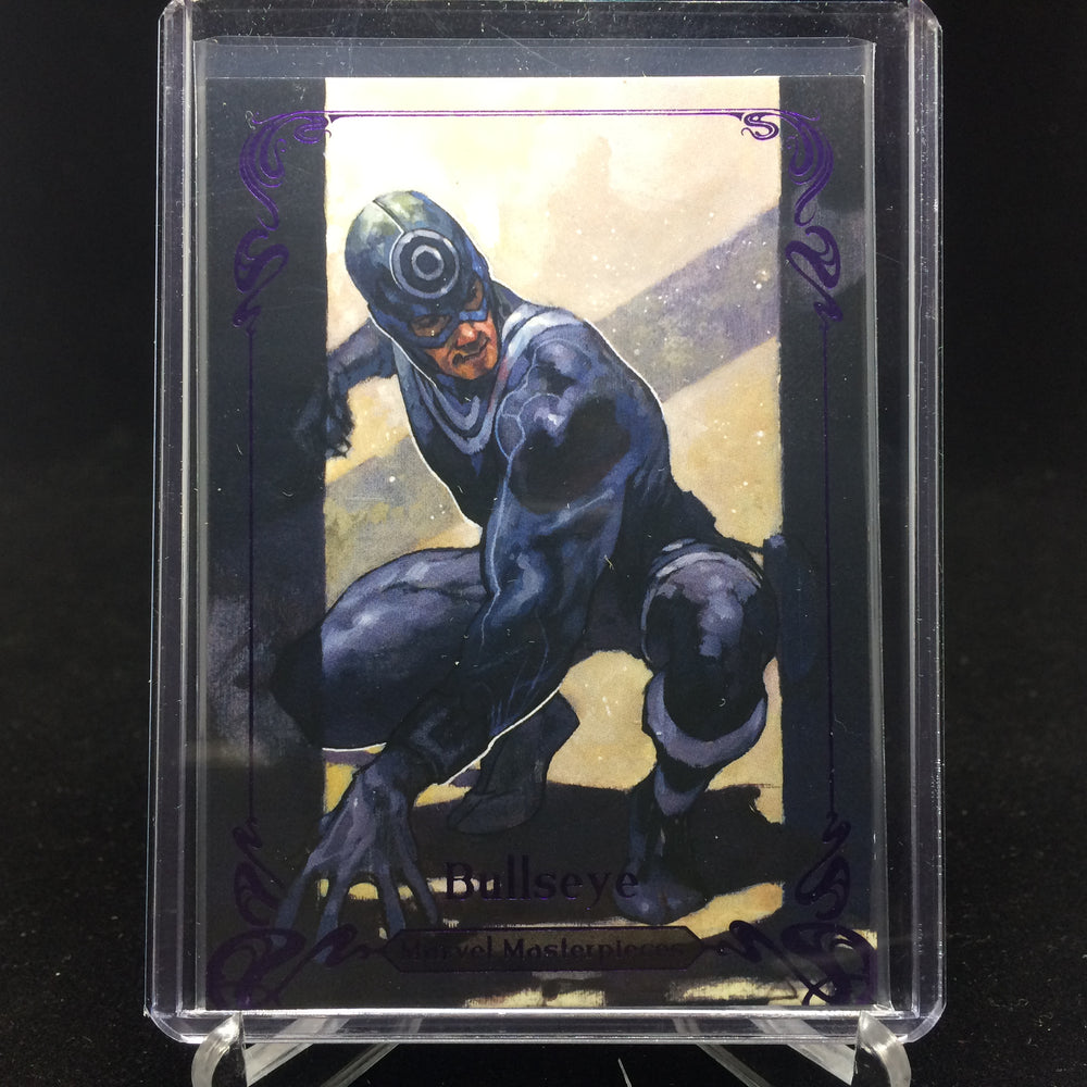 2018 Marvel Masterpieces BULLSEYE #48 Tier 2 Purple /199-Cherry Collectables