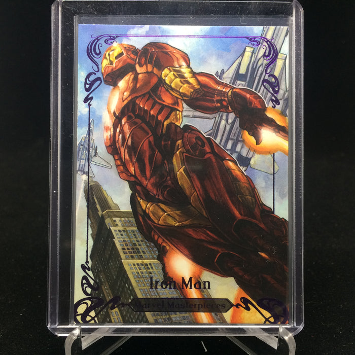 2018 Marvel Masterpieces IRON MAN #89 Tier 4 Purple /199-Cherry Collectables