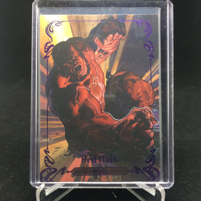 2018 Marvel Masterpieces RED HULK #47 Tier 2 Purple /199-Cherry Collectables