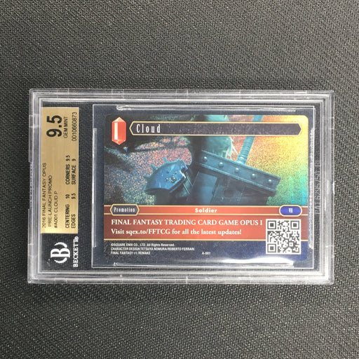CLOUD - A-001 - Foil Promo - Final Fantasy Opus 1 - BGS 9.5 GEM MINT (A)-Cherry Collectables