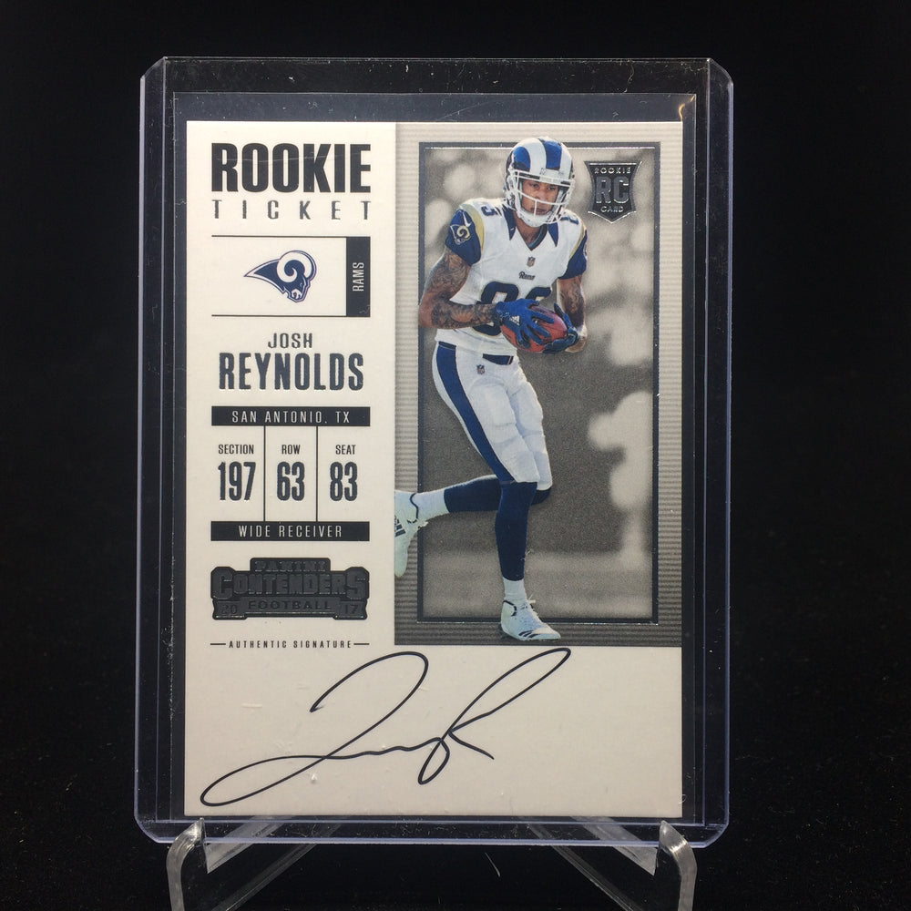 2017 Contenders JOSH REYNOLDS RC Rookie Ticket Auto-Cherry Collectables